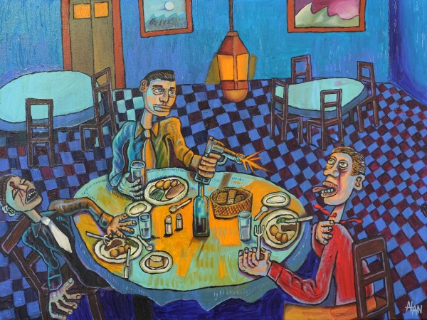 Goodfellas acrylic painting by Alan Streets