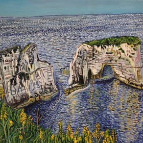 Oil painting of Old Harry Rocks in Dorset