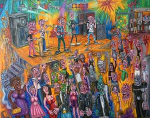 the gig , imaginary painting , alan streets , art
