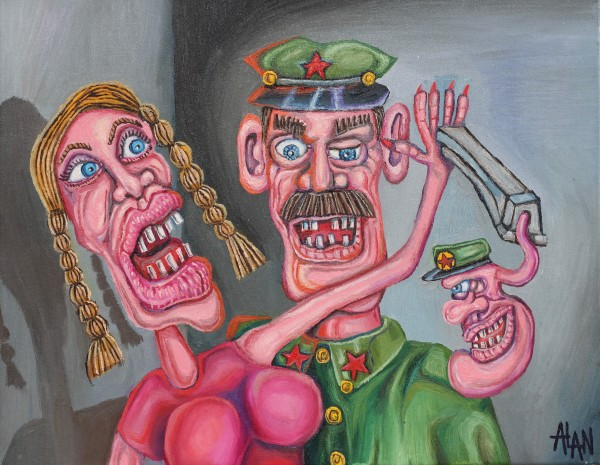 Painting of the communists call