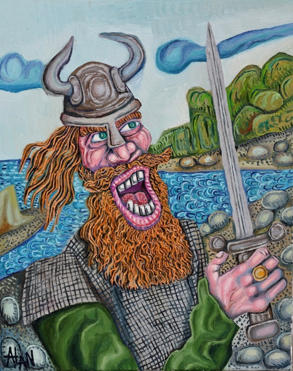 Painting of a Viking called Skon