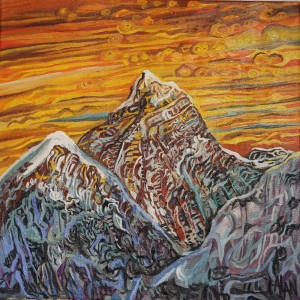 painting of view of Mt.Everest