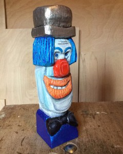 clown woodcarving