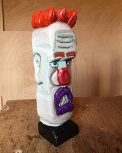 clown woodcarving .