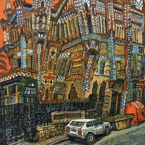 painting of Casa Vincent, Barcelona