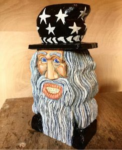 lime wood carving a wizard