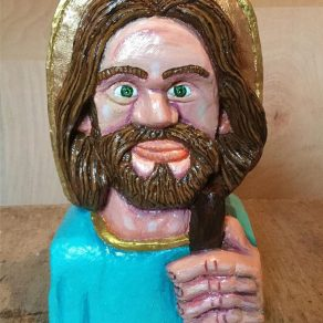 lime wood carving of St. Jude