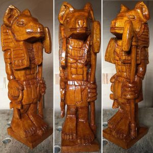 Anubis a lime wood carving
