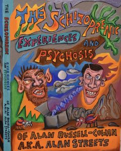 Book cover for a book about schizophrenia.